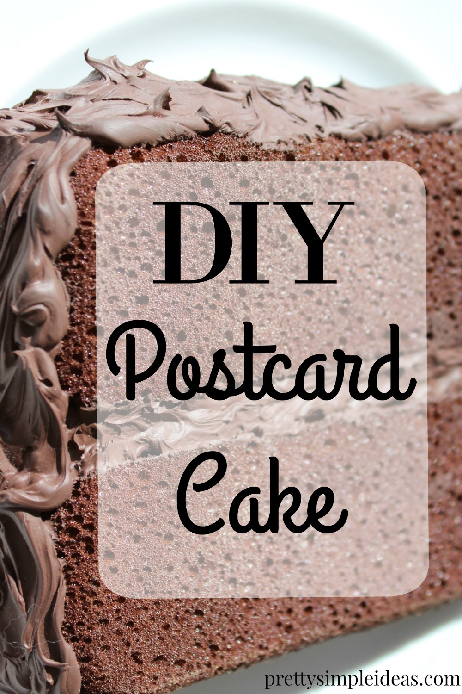 DIY postcard cake
