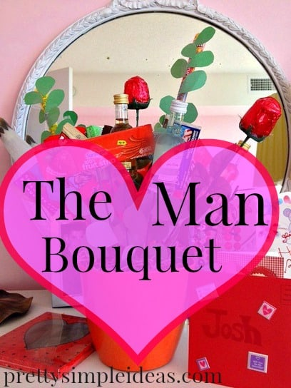 Make a Man Bouquet for Valentine's Day