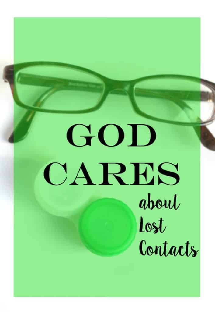 God Cares About Lost Contacts