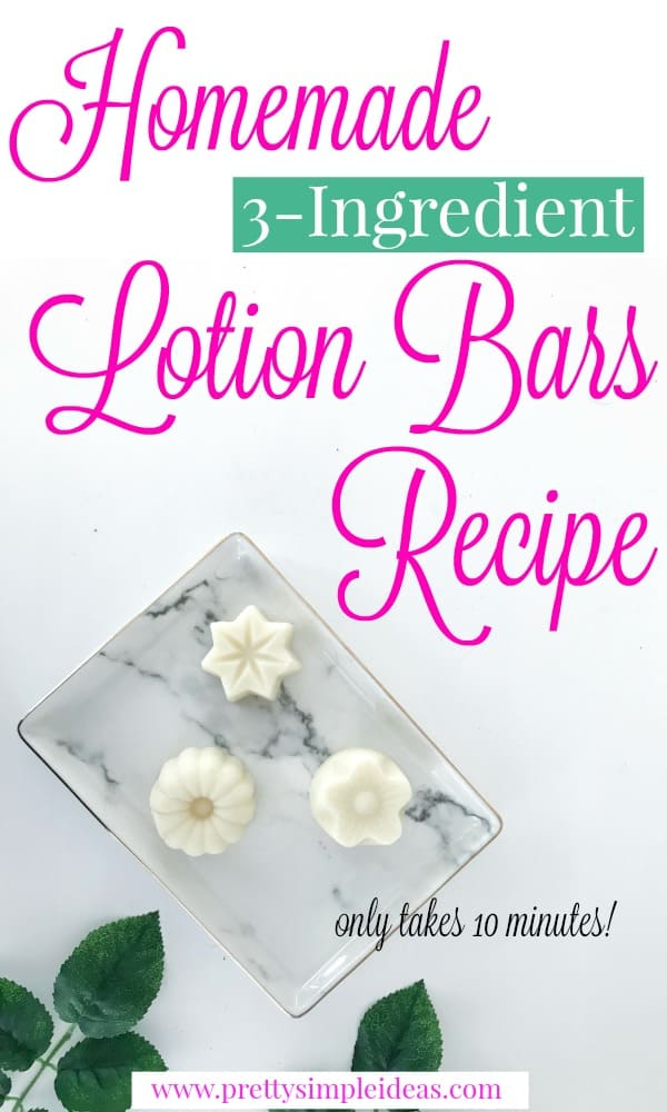 Homemade 3-Ingredient Lotion Bars Recipe DIY Easy