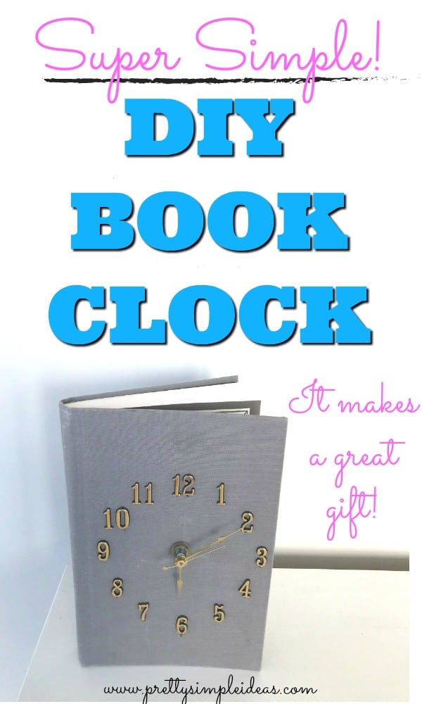 DIY Book Clock Homemade Gifts book crafts