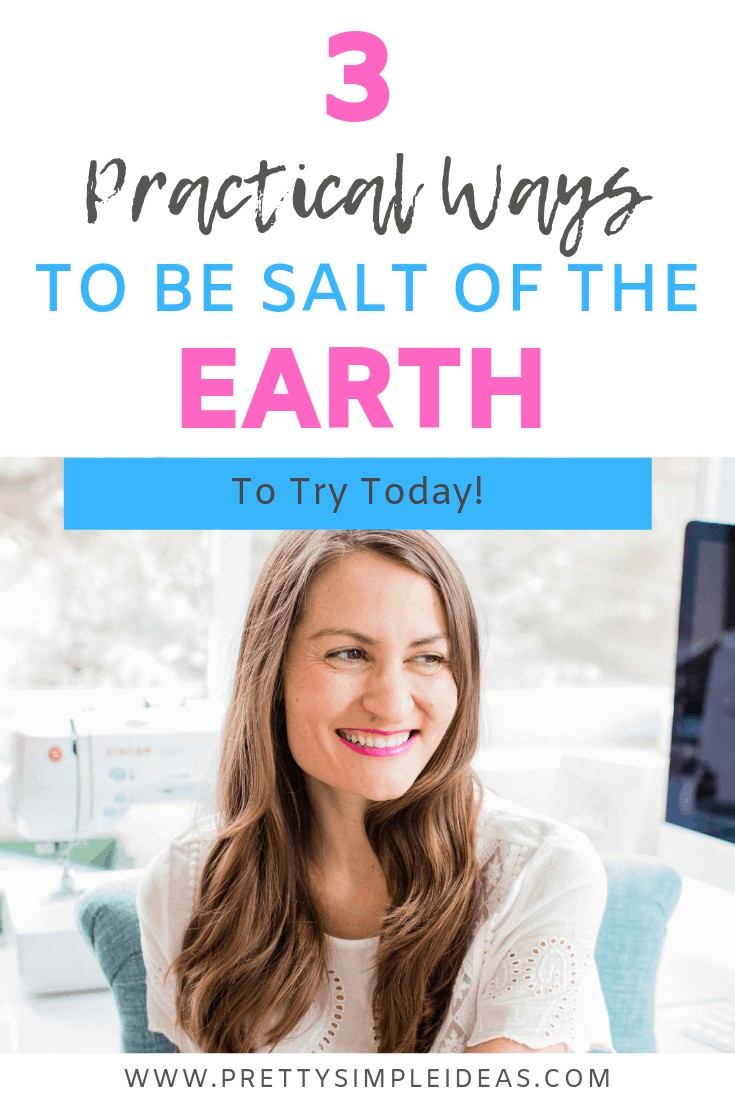 How to be the salt of the earth