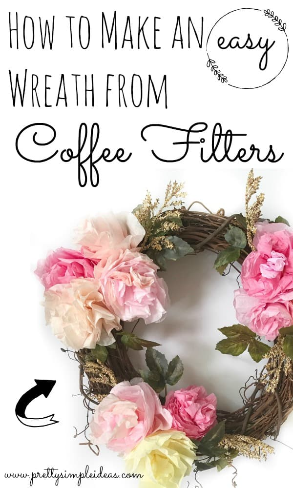 DIY Easy Wreath with Coffee Filters Spring Wreath