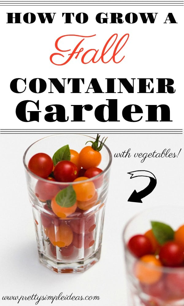 How to Grow a Fall Container Garden Vegetables