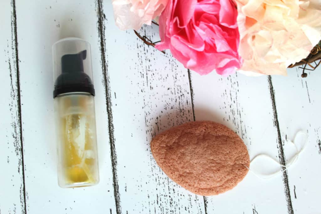 Rose and almond face cleanser