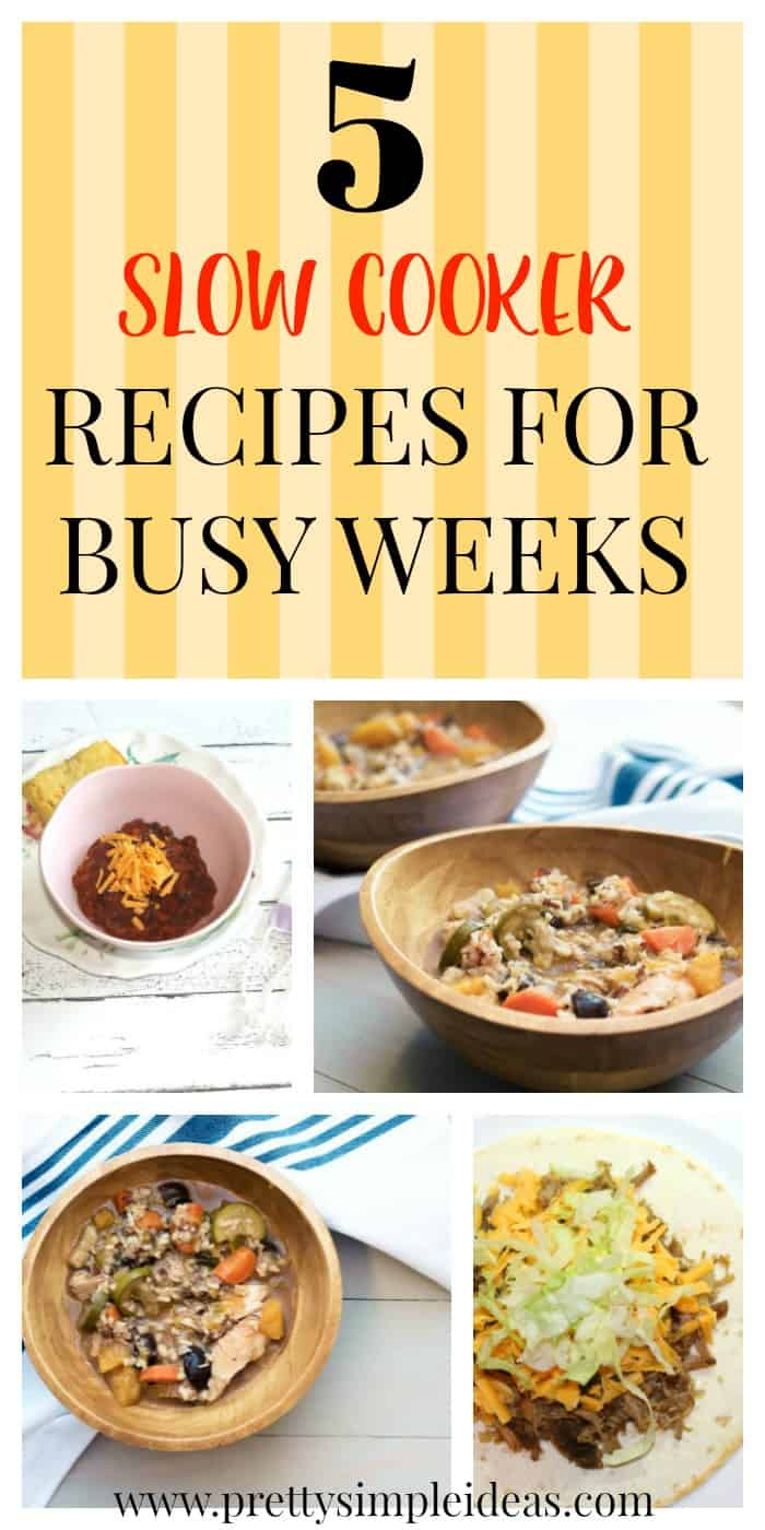 My 5 Go-To Slow Cooker Recipes for Busy Weeks | Crockpot | Easy Dinner Meals