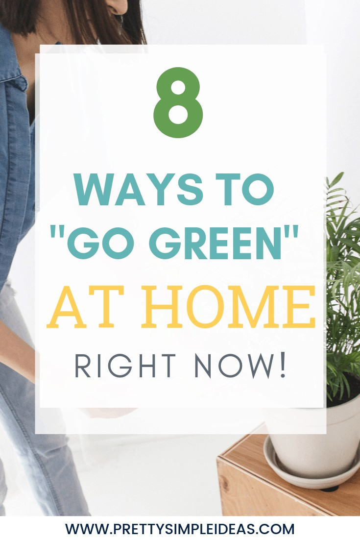 8 Ways to Go Green At Home Right Now!