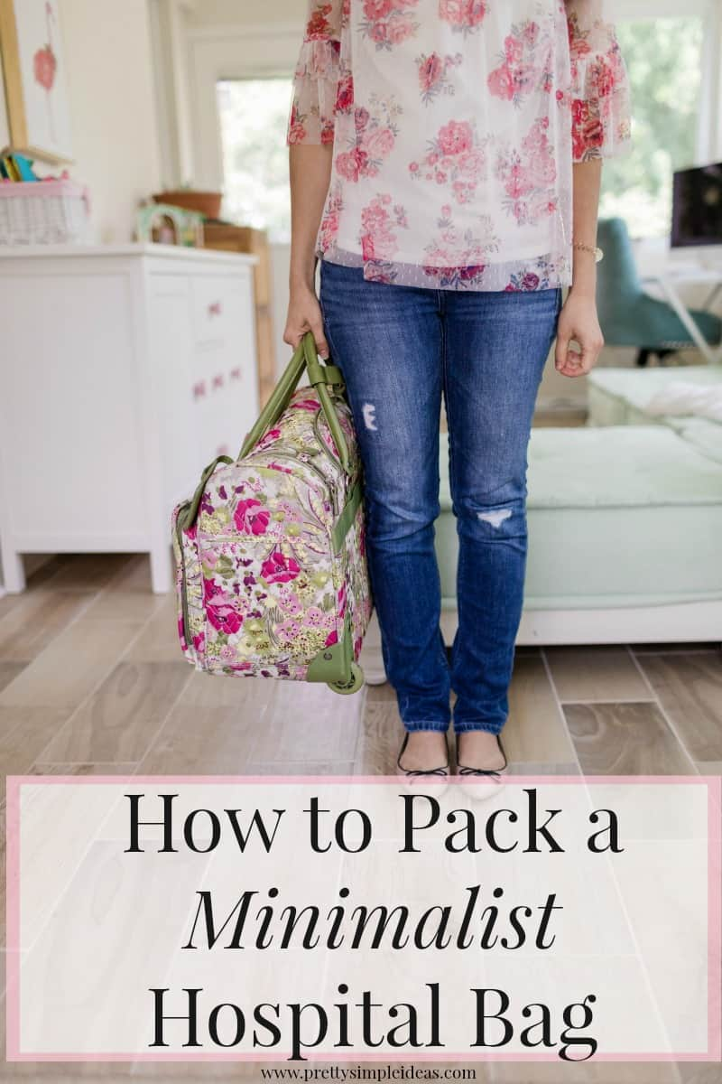 How to Pack a Minimalist Hospital Bag | Labor Bag | Delivery Bag