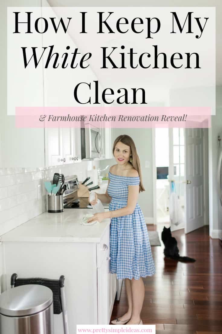 How I Keep My White Kitchen Clean
