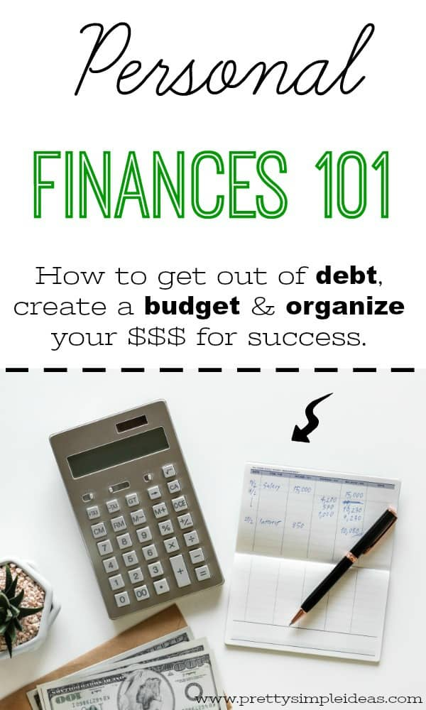 Personal Finances budgeting for beginners debt