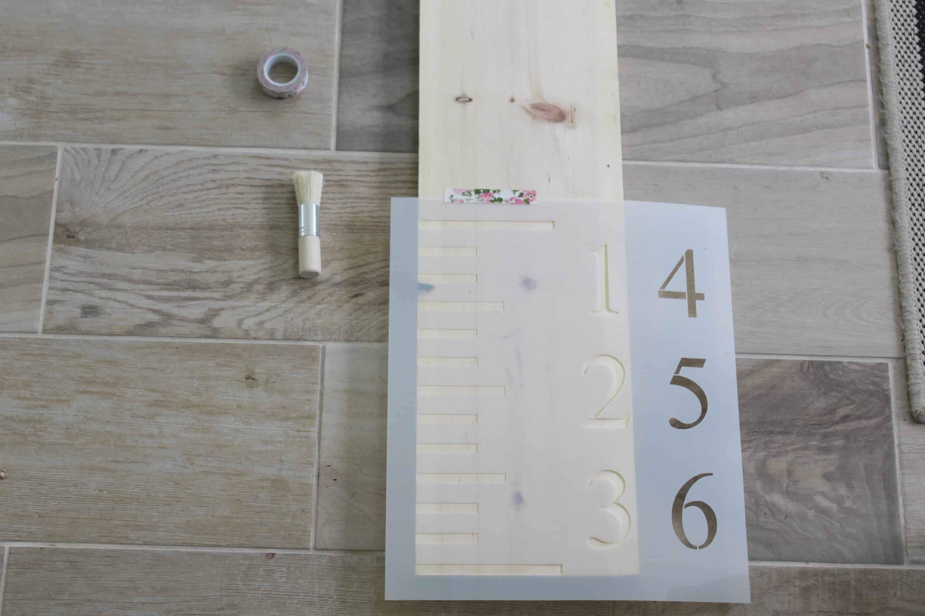 Easy DIY Growth Chart Stencil