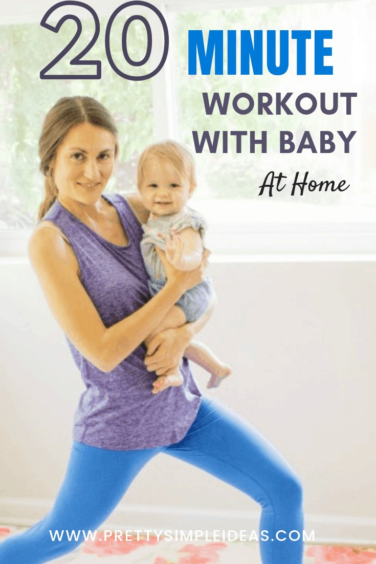 Workout with Baby At Home in 20 Minutes _ Baby Wearing Workout