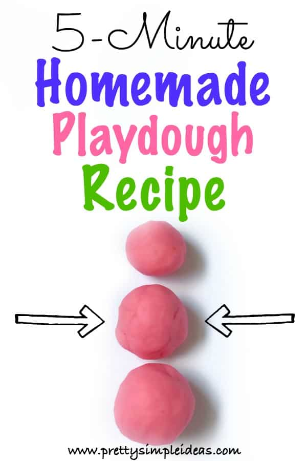 The easiest homemade playdough recipe