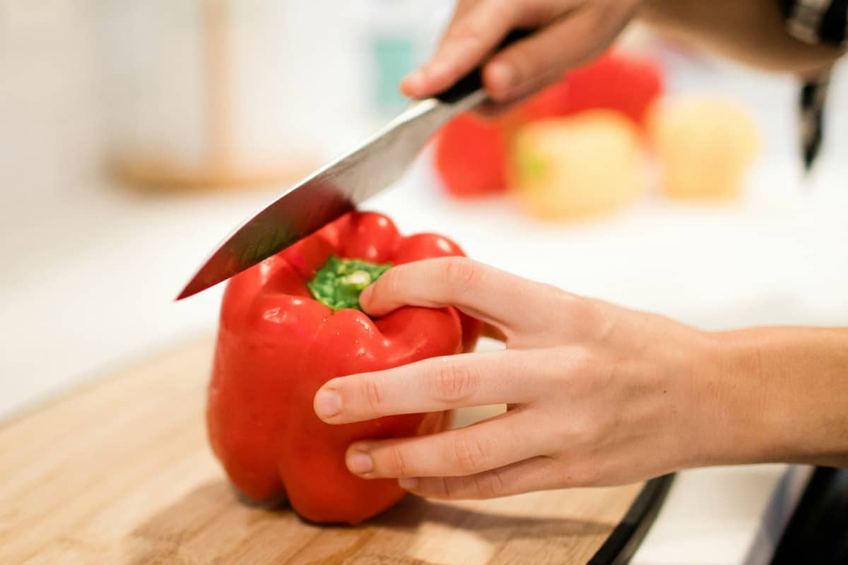 make guests feel welcome hosting cutting peppers