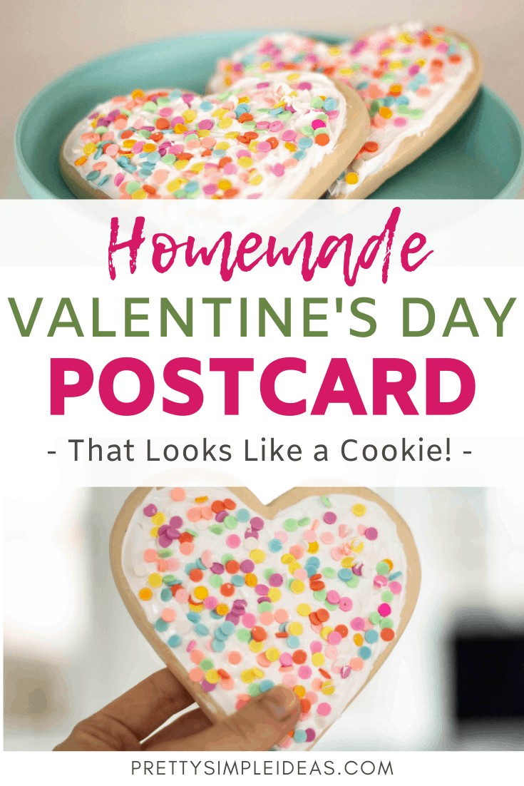 Homemade Valentine's Day cards shaped like cookie sugar