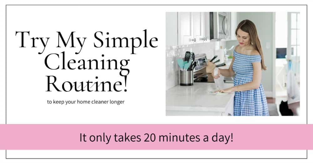 Cleaning routine schedule