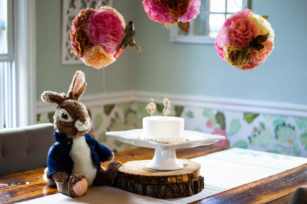 Peter Rabbit Birthday Table
