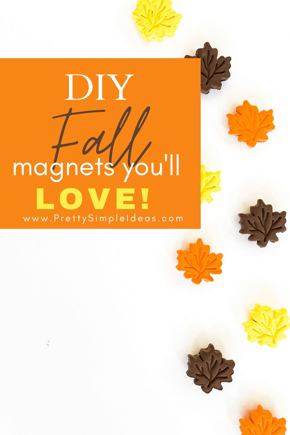 DIY Fall magnets _ homemade clay magnets _ clay crafts
